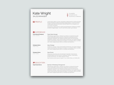 Free Smart Minimalist Resume Template