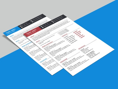 Free Simple 2 Pages Resume Template photoshop psd cv resume template resume freebies cv template freebie cv design curriculum vitae
