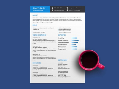Free Two Pages Resume Template photoshop psd cv resume template resume freebies cv template freebie cv design curriculum vitae