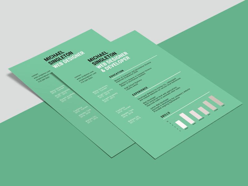 Free Green Background Resume Template cv design curriculum vitae freebies freebie resume template resume cv template cv