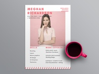 Free Bright Pink Resume Template With Feminine Design