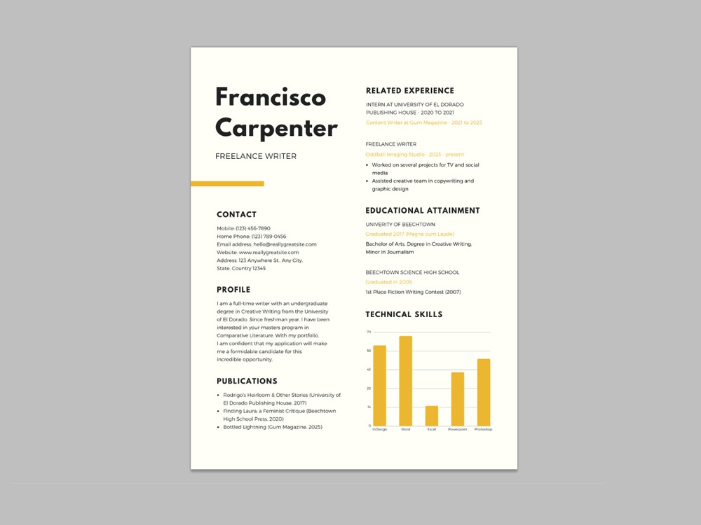 free resume template for freelance writer by steven han on dribbble