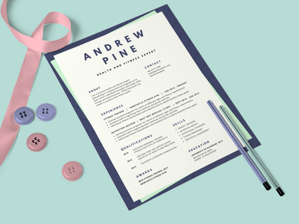 Free Medical Resume Template by Steven Han - Dribbble
