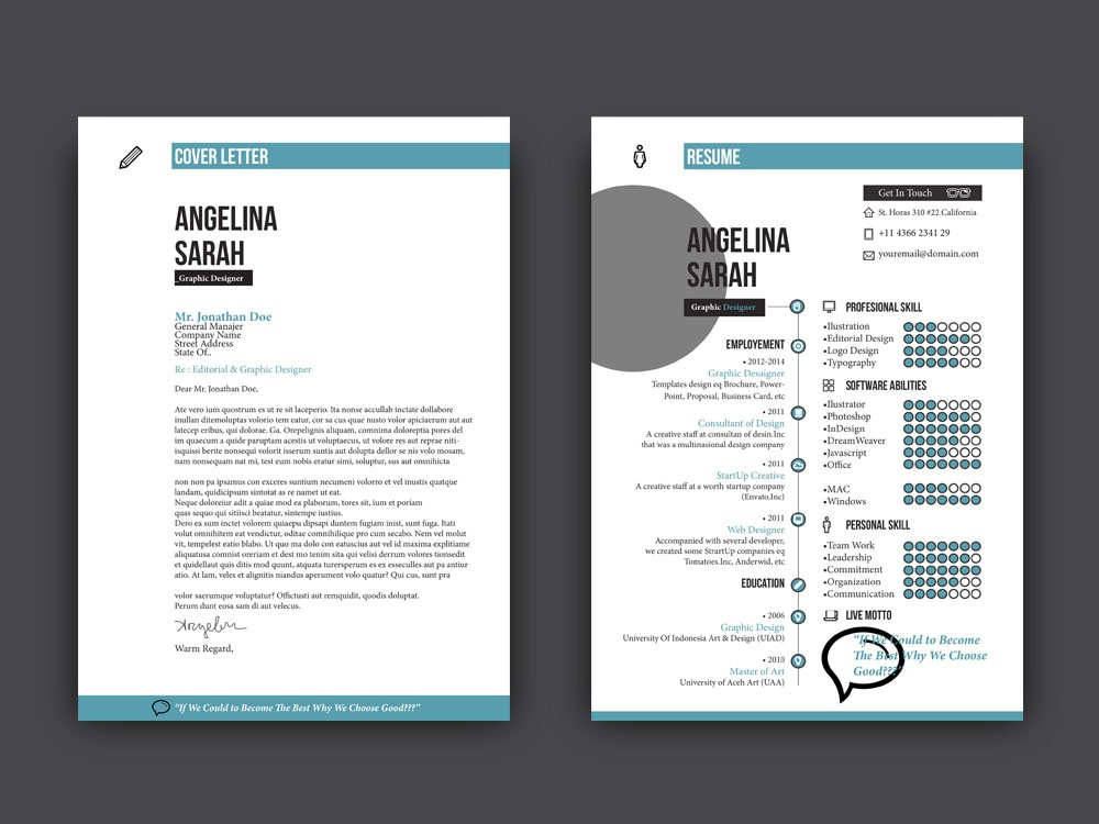 Free Cool Resume Template With Cover Letter By Steven Han Dribbble