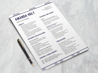 Phd Resume Designs Themes Templates And Downloadable Graphic Elements On Dribbble