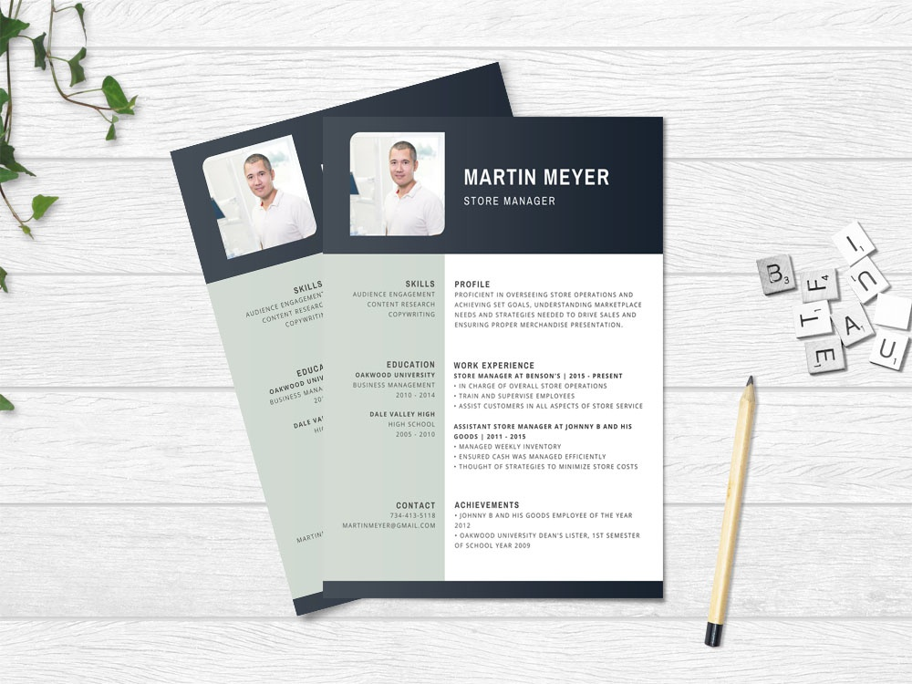 Free Store Manager Resume Template By Steven Han Dribbble Dribbble