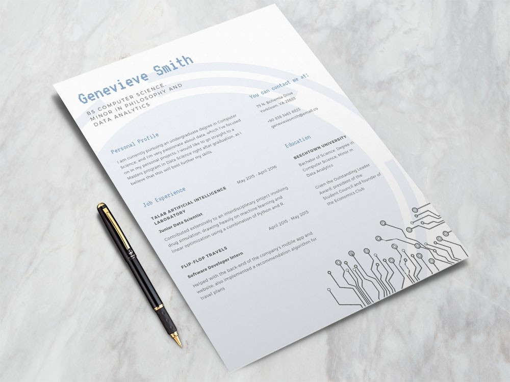 free data scientist resume template by steven han
