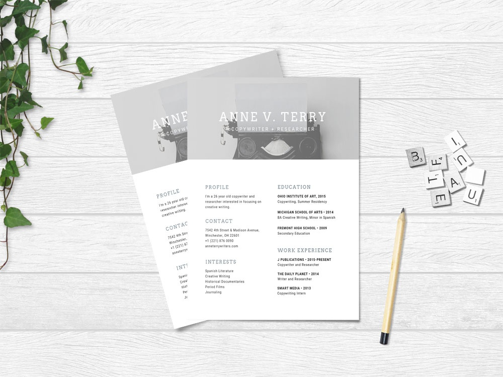 Free Copywriter Resume Template By Steven Han Dribbble