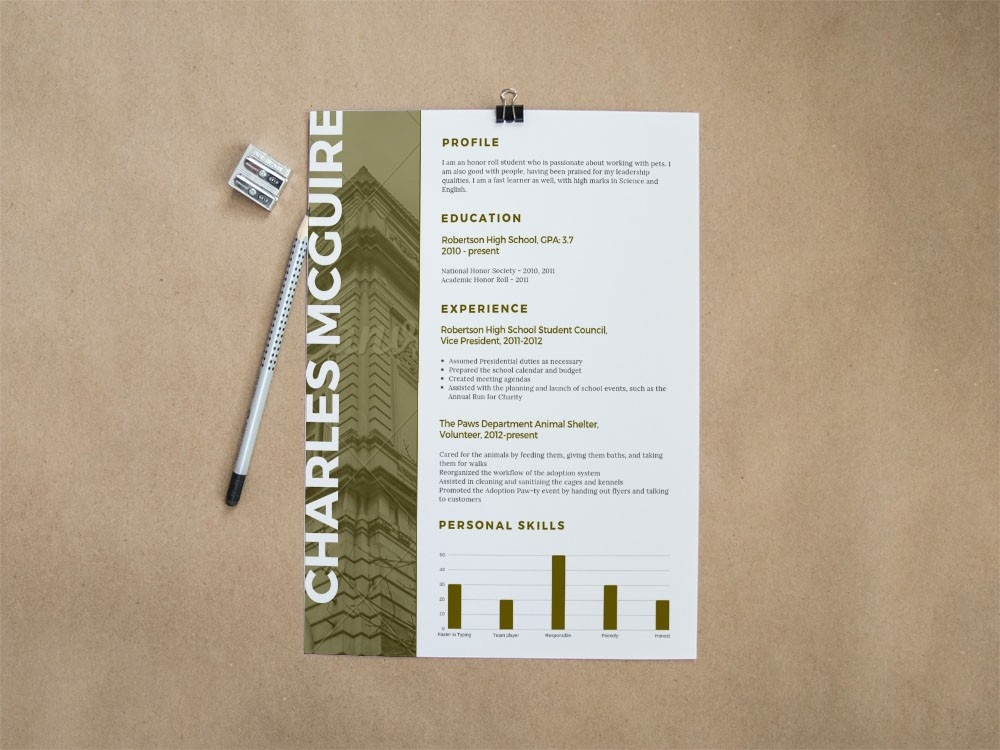 Free Scholarship Resume Template For Education Jobs Cv Psd