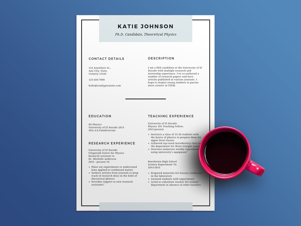 Free Scholarship Resume Template Education Cv Freebies Freebie