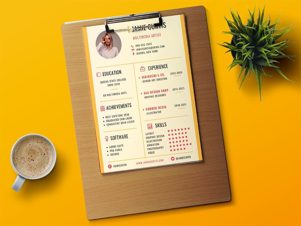 Free Artist Resume Template from cdn.dribbble.com