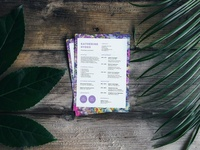 Free Purple Flowers Resume Template