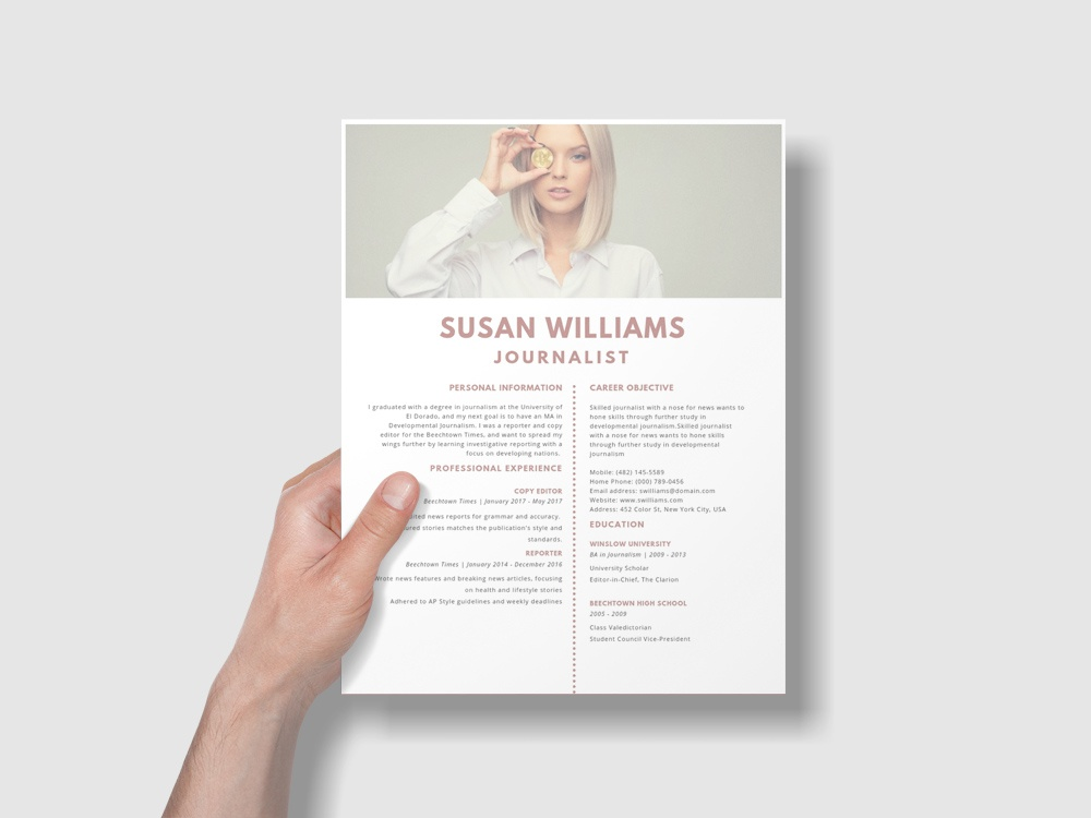 Free Journalist Resume Template By Steven Han Dribbble Dribbble