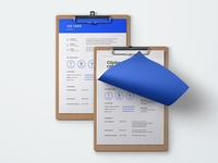 Free Blue Resume Template