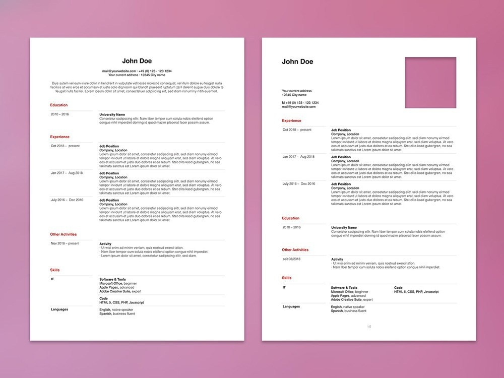 Free Apple Pages Resume Template by Steven Han on Dribbble