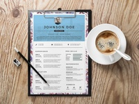 Free Floral Resume Template