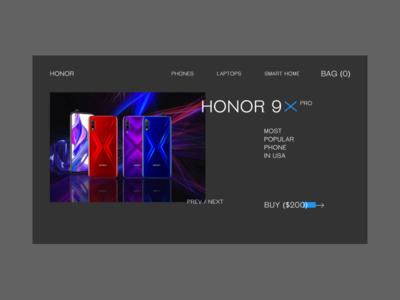 HONOR 9X PRO — CONCEPT DESIGN