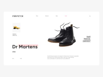 Farfetch Main Screen — Minimal