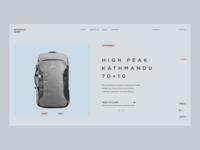 E-commerce Concept / Backpack Shop