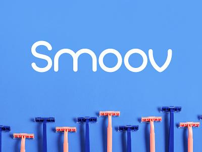 Smoov Razor Subscription Logo identity subscription monoline logo branding shaving razor