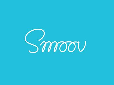 Smoov Logo Alternative typography hand lettering simple brand razor monoline logo monoline script