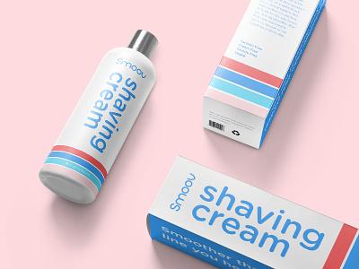 Smoov Packaging and Bottle Design packaging design subscription razor shaving logo branding packaging bottle label bottle