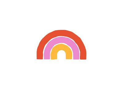 Happy Little Rainbow icon logo brand smile happy illustration red pink rainbow