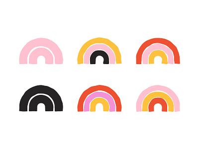 Rainbow Colorways illustration logo icon smile happy rainbow
