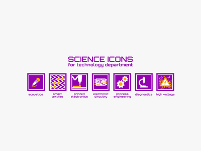 Science icons for technology department icons design illustration design technology science icons set iconset icons vector ui
