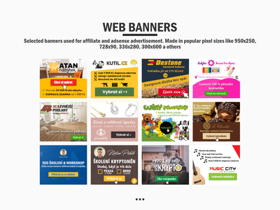 Web banners portfolio vol. 1 affinity designer design adsense affiliate banners banner design banner ads banner ad banner