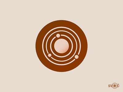 Minimalistic logo for university contest technology logo design contest science planet atom icon logo