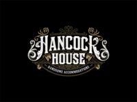 Hancock House illustrator signage classic art branding design vector typography illustration art-deco vintage design