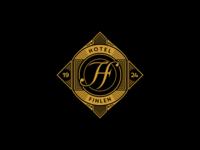 Art Deco emblem of Hotel Finlen signage art-deco art illustrator minimal emblem design vector typography illustration