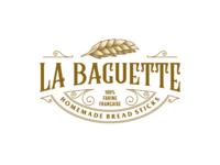 Vintage La Baguette classic signage lettering minimal design typography illustrator vector art illustration