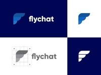 Flychat Logo design