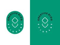 Creative Blog Stickers Logo