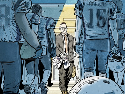 The Jersey Caper for Sports Illustrated graphic novel comic sports illustrated editorial illustration