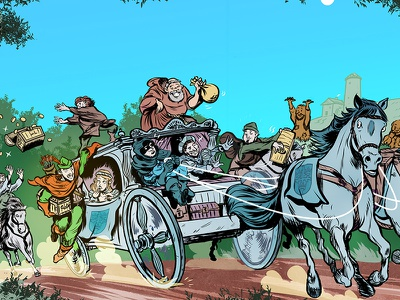 Robin Hood & Co. children´s books comic editorial illustration