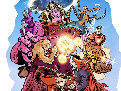Avengers brawl quick fanart editorial sketch illustration fanart avengers marvel
