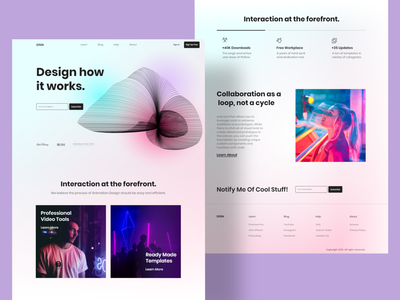 Design Company comcept landing page uidesign website modern ux ui cleandesign webdesign