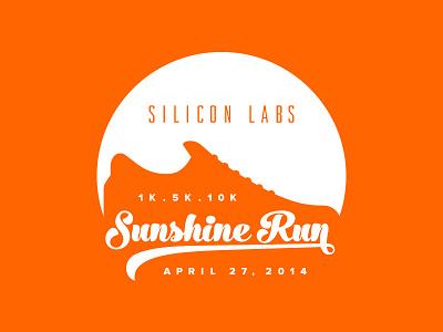 Sunshine Run Logo 5k 10k race run sun shoe orange austin texas