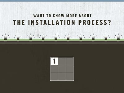 Installation Process Infographic sprinkler system irrigation icon illustration. underground dirt grass green blue brown lawn organic texture