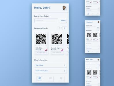 Wallet App for Tickets – Neumorphism Design