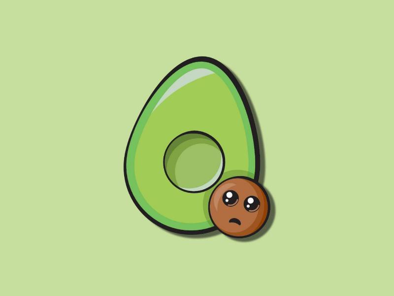Avocado avocado illustration logo