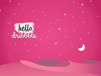 Hello Dribbble invite invitation first shot creative space hello design debut