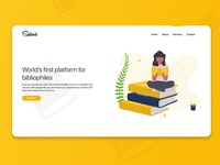 Spliced - Hero Design for Book-lover's social media platform hello web design web ux design ux typography minimal inspiration landing page modern book app hero header header design header hero uidesign ui gradient design creative