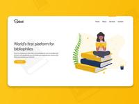 Spliced - Hero Design for Book-lover's social media platform