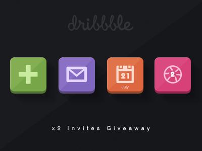 x2 Dribbble Invites Giveaway ..!