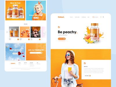 Doktor's | Website Design orange uiux web design landingpage homepage website concept ui design website design website minimal ui