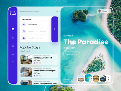 Good Travel Web App Design ui uiux hotel booking flight booking booking uidesign web app design website web app travel